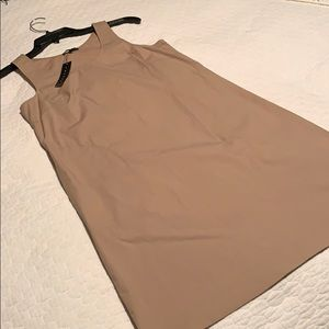 Theory Kalycia Dress in Warm Khaki